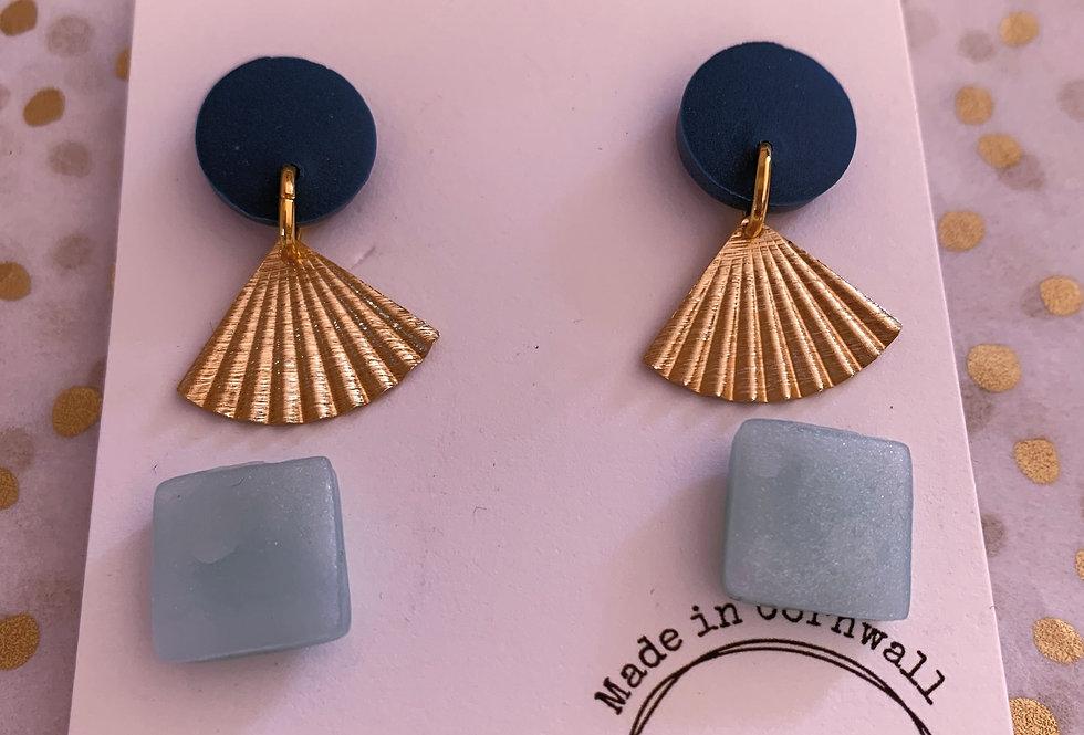 Navy and sea shells