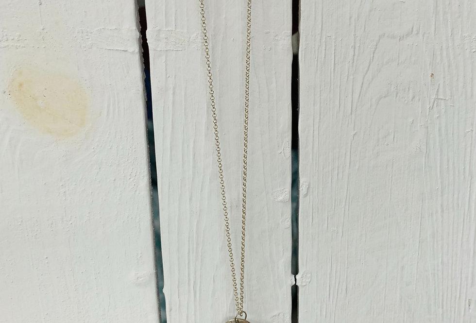 Lava heart necklace - blue