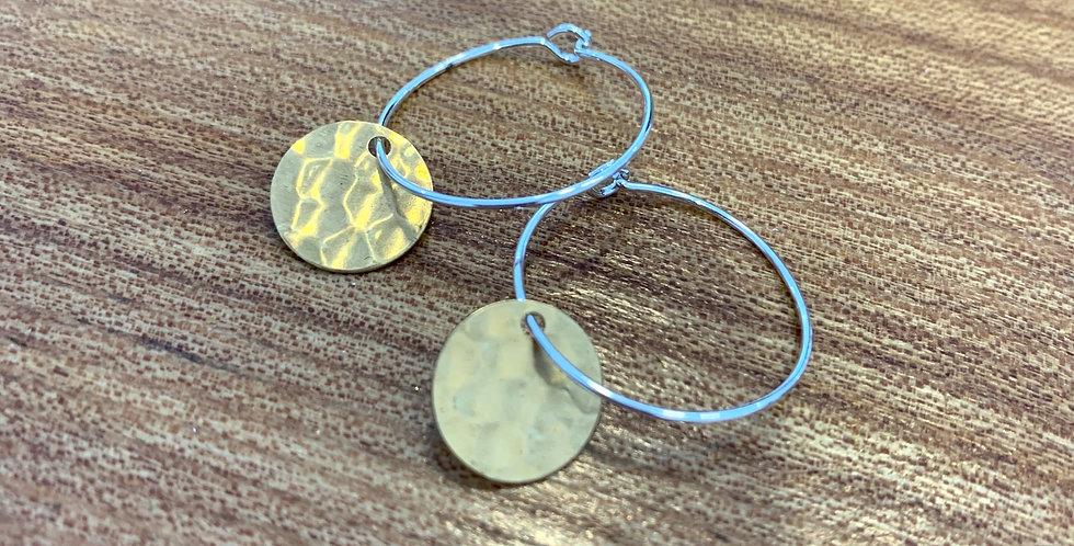 Small brass hoops - discs