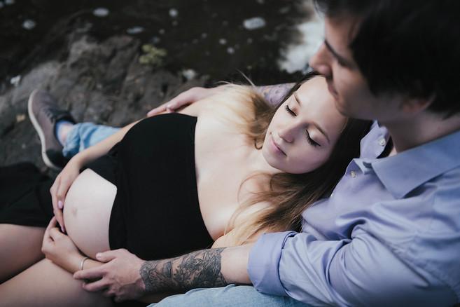 zamilované těhotenské fotky s partnerem