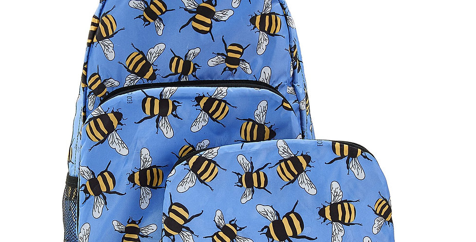 EcoChic Backpack - Bees Blue