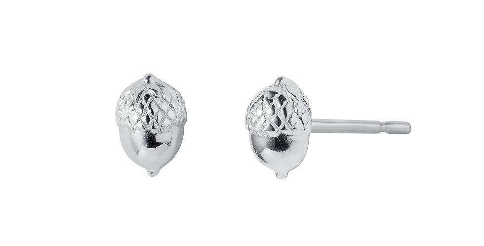 Silver Acorn Stud Earrings