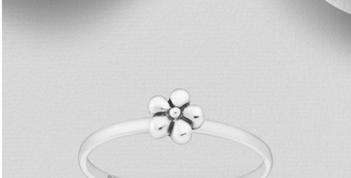925 Sterling Silver Flower Toe Ring