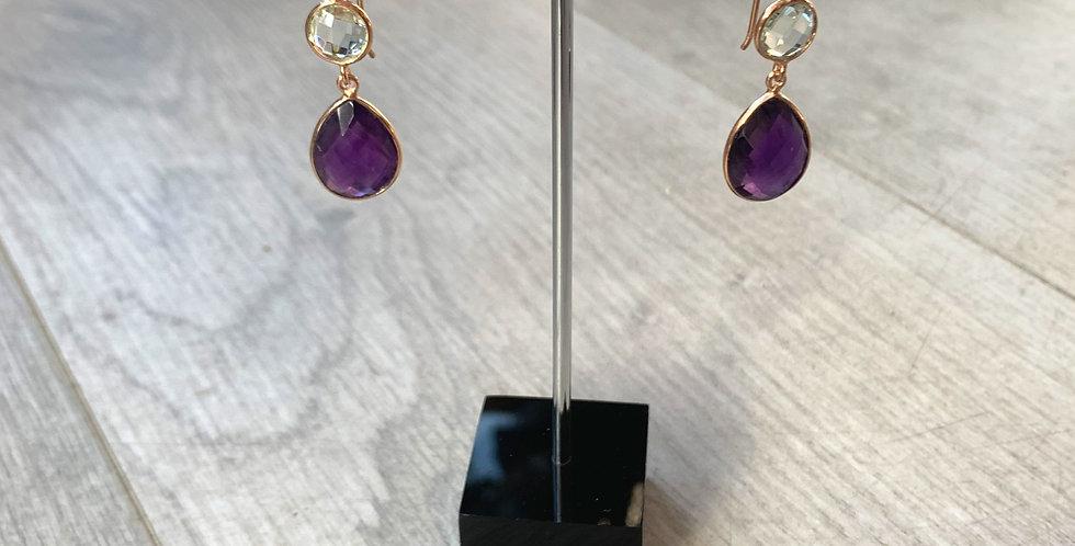 Lapis Lazuli and Amethyst hooks