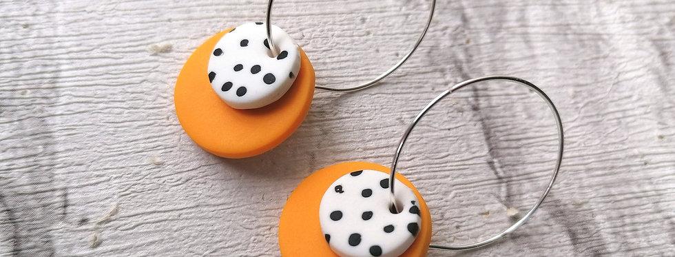 Orange polka dot hoop