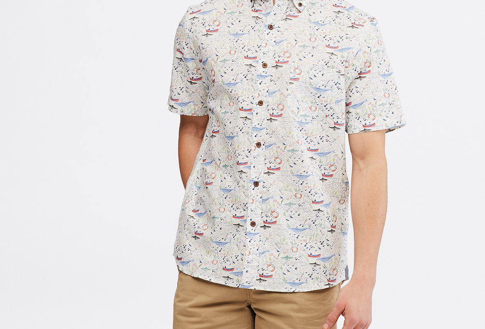 White Stuff Sea Life Print Shirt