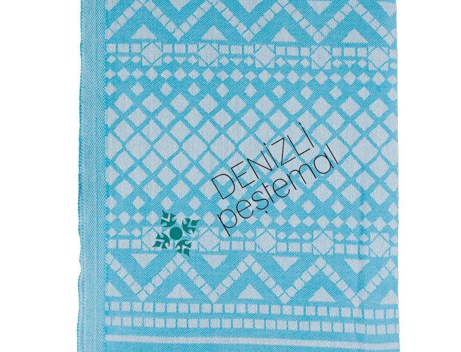 Turkish Towel - diamond turquoise