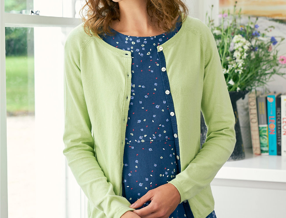 Lily and Me Pointelle Knit Cardi - Pistachio