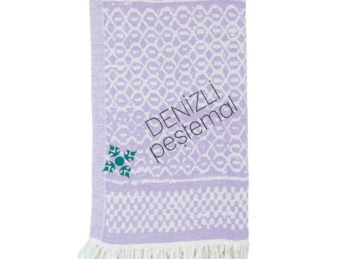 Turkish Towel - lilac pattern