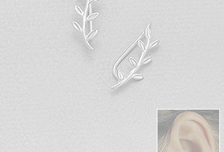 925 Sterling Silver Branch Ear Pins