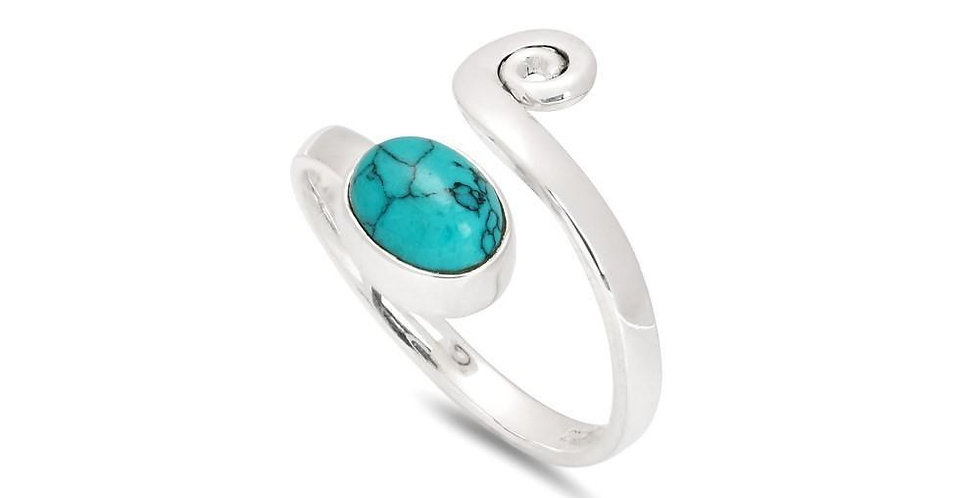SPIRAL TURQUOISE RING