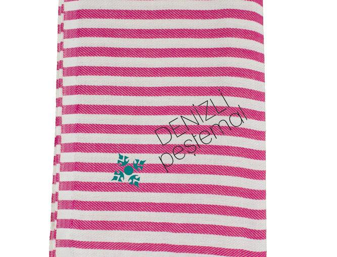 Turkish Towel - pink stripe