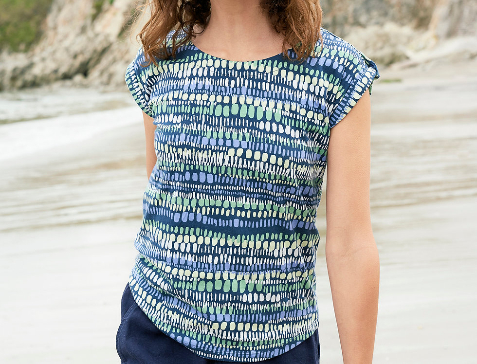 Lily and Me Surf Side Tee - Waves
