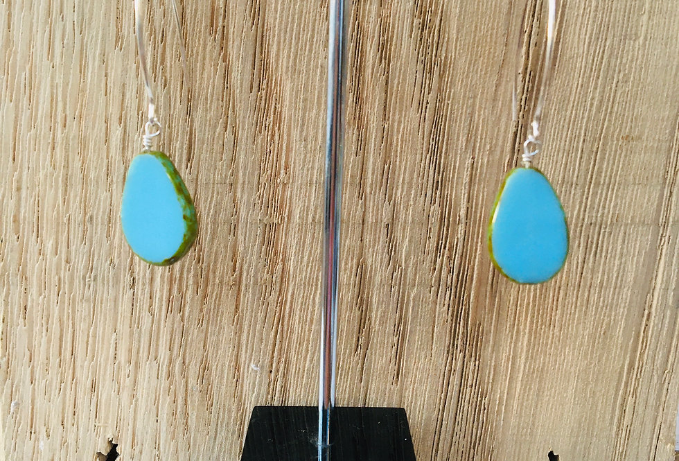 Picasso Stone Earrings - Turquoise