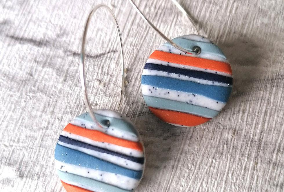 Orange stripe hoops
