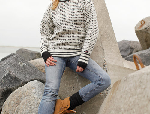 Faroese jumper with classic pattern of 100% pure wool