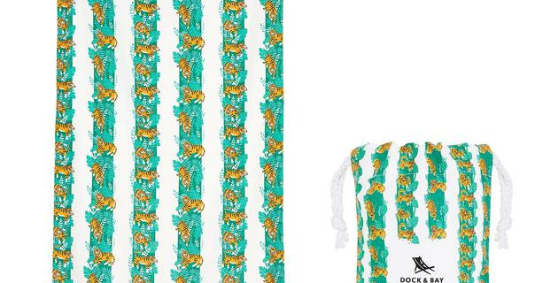 QUICK DRY BEACH TOWEL - JUNGLE COLLECTION, TIGER