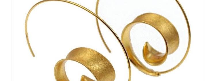 Curl Hoop Gold Earrings