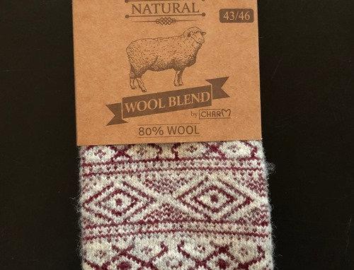 Wool socks 80% wool by WOOLWEAR of Scandinavia.
