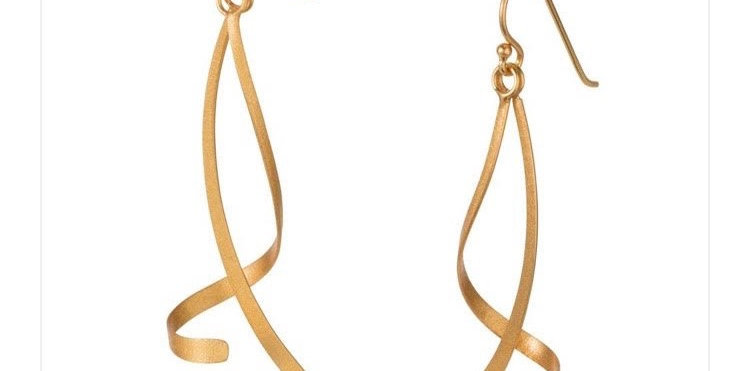 Twist and Turn Gold Earrings