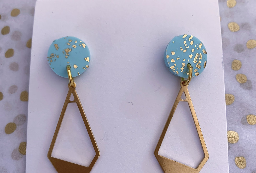 Signature diamond dangles - blue