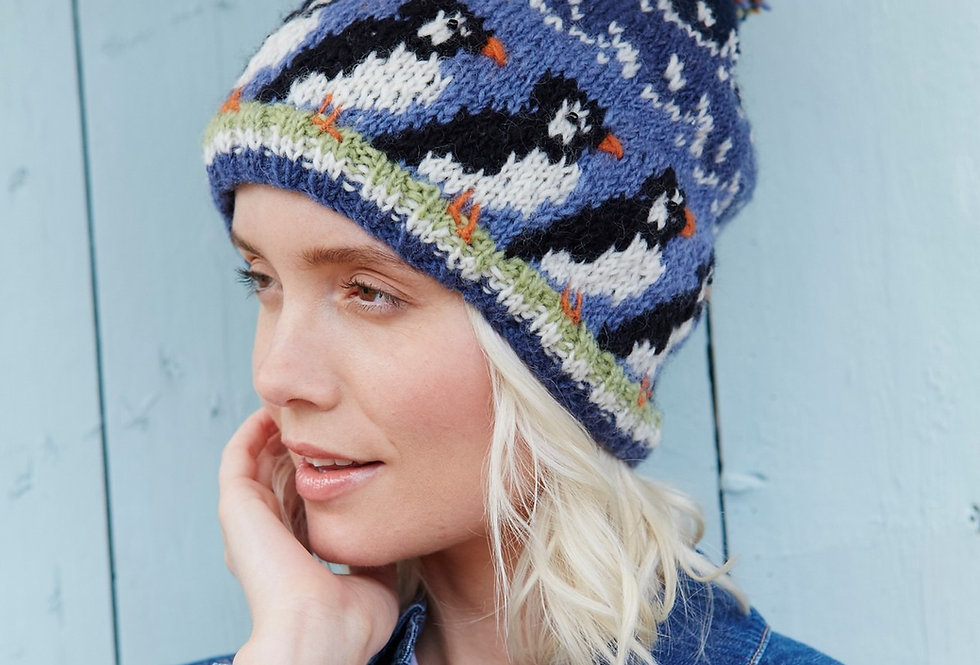 Circus Of Puffins Bobble Beanie
