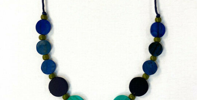 Blue Geo Tones Necklace