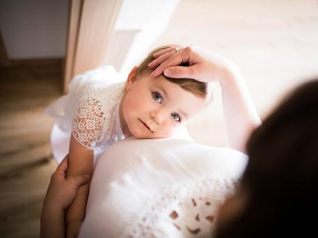 těhotenské focení s malou dcerou