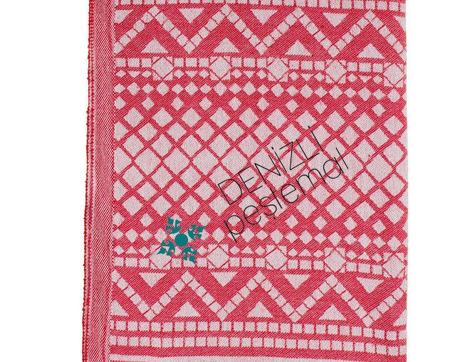 Turkish Towel - diamond red