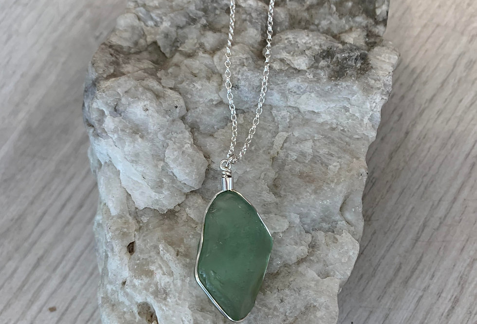 Scillonian seaglass necklace