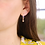 Thumbnail: Sterling Silver Hoop and Gold Star Earrings