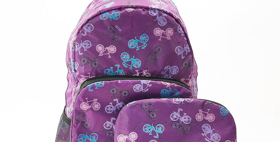 EcoChic Backpack - Bikes Purple