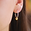 Thumbnail: Sterling Silver Hoop and Gold Heart Earrings