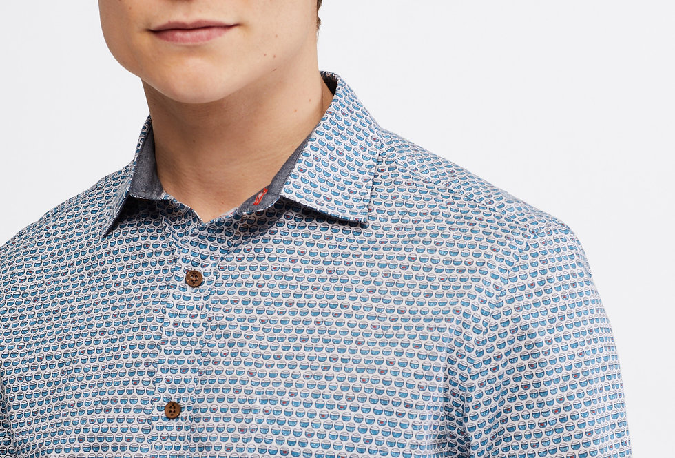 White Stuff Fish Bowl Geo Print Shirt