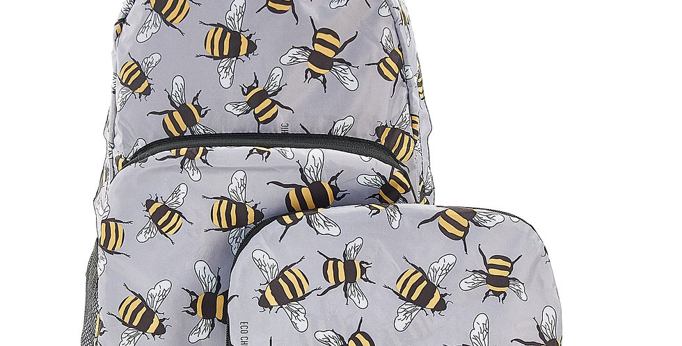 EcoChic Backpack - Bees Grey
