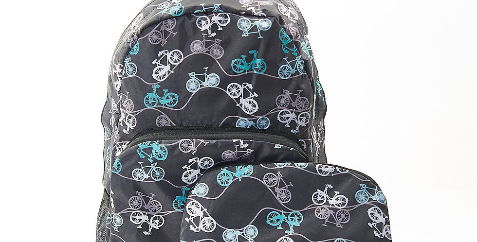 EcoChic Backpack - Bikes Black