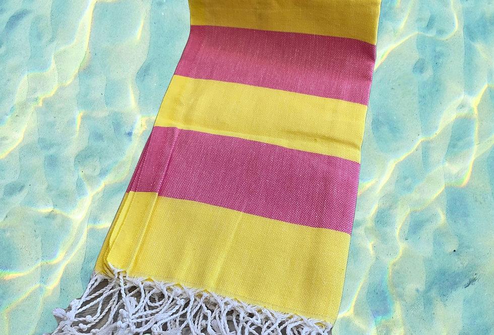 Turkish Towel - pink/yellow