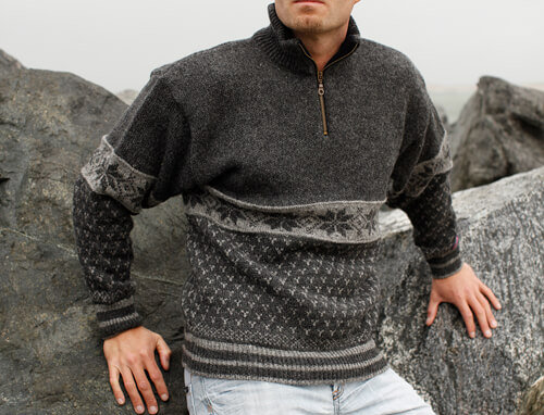 Classic Wool Jumper of 100% pure new wool by Norwool