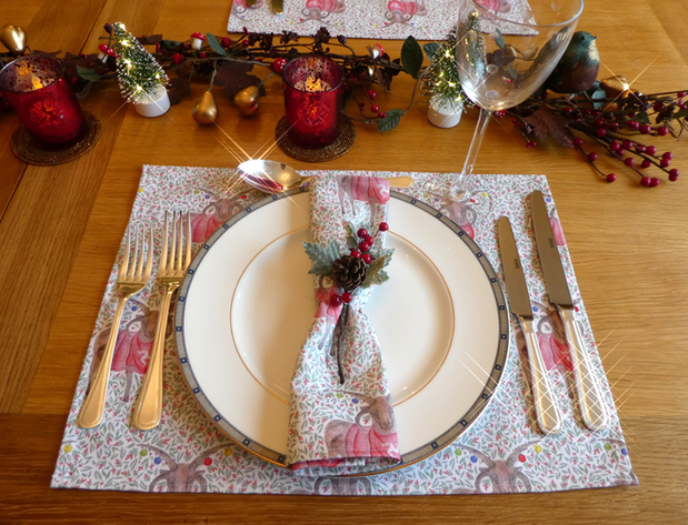 Loaghtan Sheep Christmas Placemat & Napkin