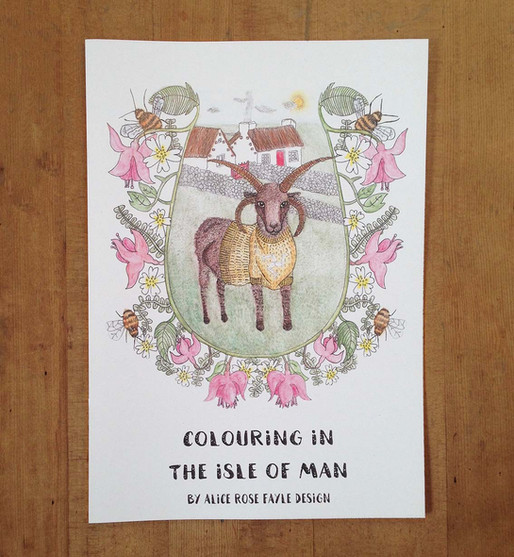 Isle of Man Colouring Book