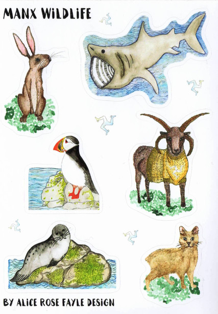 Manx Animal Stickers