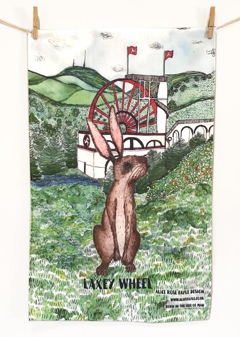 Laxey Wheel Tea Towel