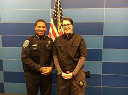 Chief Scott and Chaplain Rohrer