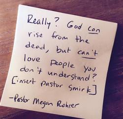 Pastor Megan's Post-It Notes