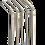 Thumbnail: Lot de 5 Pailles Courbées Inox