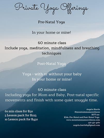 ids Yoga Offerings 6-8 Week program K-2