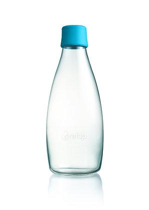 """Bouteille en verre 80 cL """"Bleu"""" - Retap"""