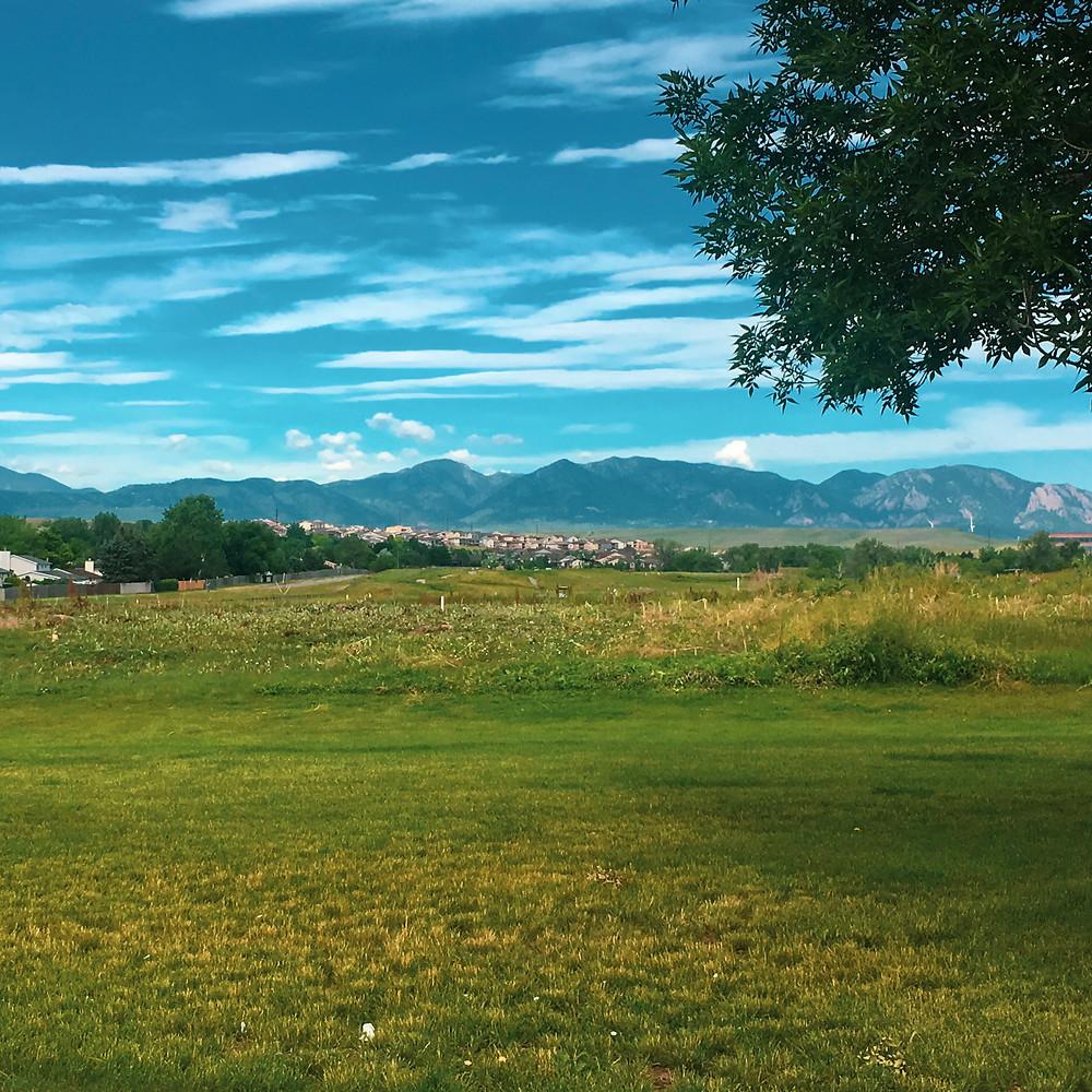 Flatiron Mountains on the Front Range