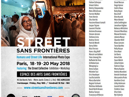 Participated STREET SANS FRONTIERES Paris  May, 2018