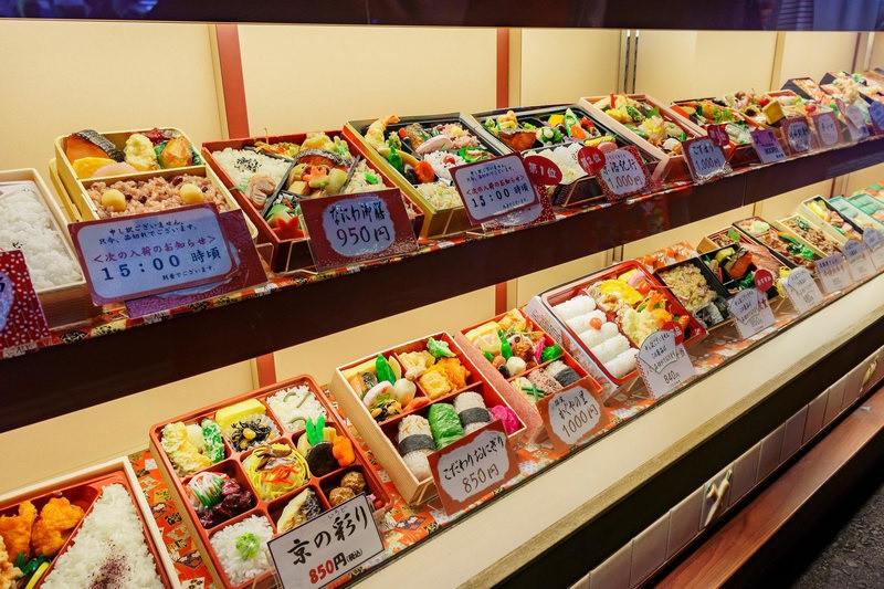 Ekiben Display at Kyoto Station